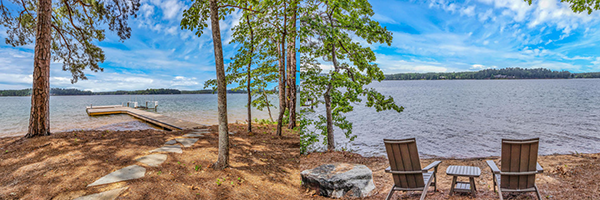 canoe point cottage lake martin view