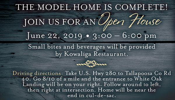 details open house model home white oak landing